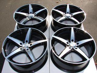 5x110 Black Wheels Ford Focus Pontiac G5 G6 Cobalt V70 Xc70 S60 Rims