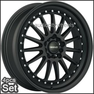 18inch Wheels Tenzo Turismo Black 4 5LUG Rims Rim Wheel