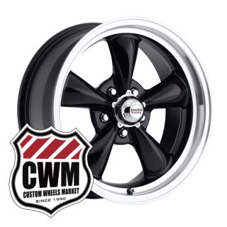 17x7 Black Wheels Rims 5x4 75 Lug Pattern for Chevy Corvette 1961