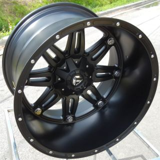 22X14 8X170MM MATTE  76 BLACK FUEL HOSTAGE WHEELS RIMS FORD F250 F350