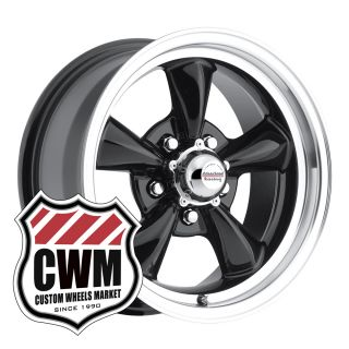 Black Aluminum Wheels Rims 5x4 75 Pattern for Chevy Nova 68 79