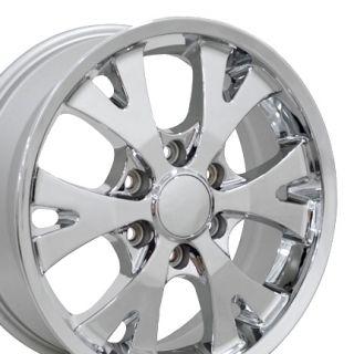 18 Chrome Canyon Wheels 5324 Set of 4 Rims Fit Chevy GMC Colorado Z71