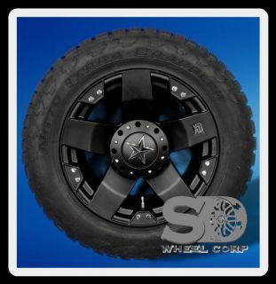 20X10 WHEELS RIMS XD ROCKSTAR BLACK 5X135 W/ 305/55/20 NITTO TERRA