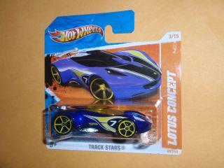 Hot Wheels 2011 Short Card Lotus Concept 3 15 Track Stars