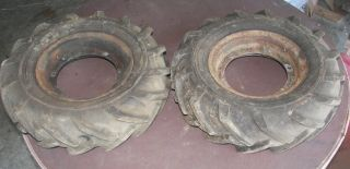 80 4 00 8 Gravley Tractor Tires on Rims with Air Gravely Wheels