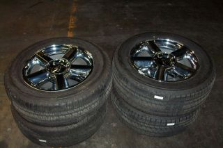 CHEVROLET TAHOE AVALANCHE SUBURBAN TAKE OFF WHEELS TIRES 20 POLISHED