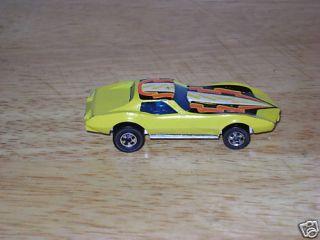Vintage Hot Wheel Yellow Corvette Stingray 79 SKU 9241