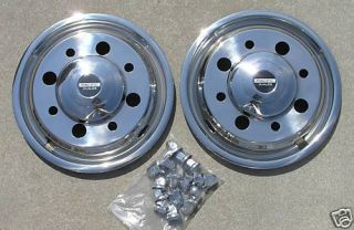 19 5 Chevy GMC C4500 C5500 Dually Wheel Covers