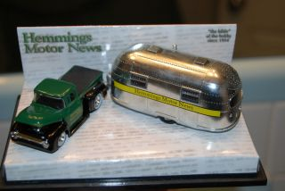 Hot Wheels RLC Hemmings Motor News 1956 Ford Truck and 1949 Airstream