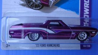 Hot Wheels 2013 Super Treasure Hunt 72 Ford Ranchero Real Riders