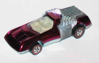 1971 Hot Wheels REDLINE   NOODLE HEAD   Magenta   Near Mint w/ Badge