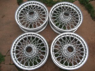 FULL SET OF WIRE WHEELS 60 SPOKE 15 X 4.5 FITS TRIUMPH TR2, TR3, TR4