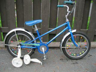 83 Chicago Schwinn Pixie 16 Bicycle Training Wheels Clean Orig Ready