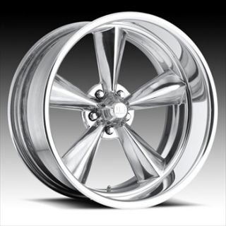 18 US Mags Standard 2pc Wheel Set FOOSE Style Rims Polished 5 Lug