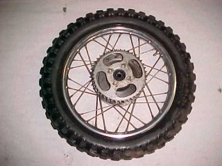 76 Yamaha GT80 GT 80 Rear Wheel Rim Tire Good