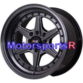 501 Chromium Black Rims Wheels Deep Dish 81 82 83 84 91 BMW E30 E21