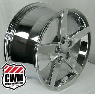 Corvette C6 2005 Chrome Replica Wheels Rims fit C4 Vette 84 87 Camaro