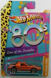 Hot Wheels 1 64 Cars of The Decades 84 Pontiac Fiero Hard to Find