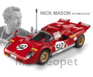 Hotwheels Elite Ferrari 512s 1 18 Nick Mason Pink Floyd