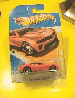 HOT WHEELS 12 CAMARO ZL1 RED VEHICLE 2012 NEW MODELS GENERAL MOTORS