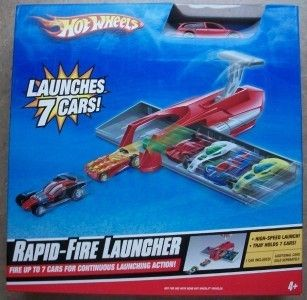 New in Box Hot Wheels Rapid Fire Car Launcher Toy