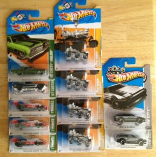 HOT WHEELS 2012 TREASURE HUNT LOT MARS ROVER PLUS 2013 COROLLA AE 86