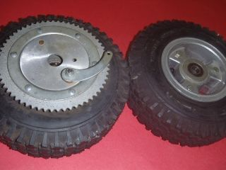 Go Kart Minibike Front and Rear Tire Set Sprocket Brake Rims