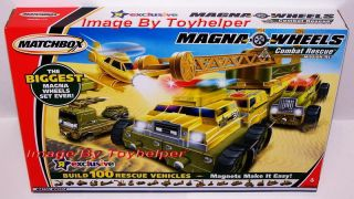 Matchbox Magna Wheels Combat Rescue Vehicles Playset