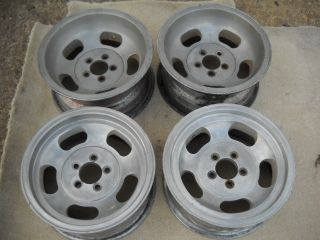 Demon Plymouth Duster Barracuda Aluminum Slot Mag Wheels Set