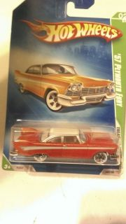 2008 TREASURE HUNT 60s T HUNT HOT WHEELS 57 PLYMOUTH FURY DIECAST TOYS