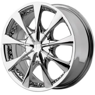 15 inch 15x7 Helo HE827 Chrome Wheels Rims 5x110 5 Lug
