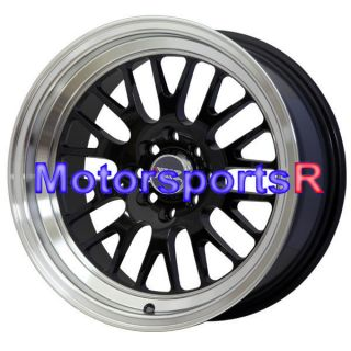 531 Black Wheels Rims Deep Dish Lip 4x100 84 85 86 87 88 91 BMW E30