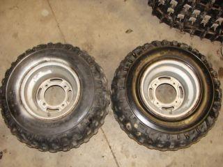 88 89 90 91 92 93 94 Kawasaki Bayou KLF220A ATV 22x10 10 Rear Wheels