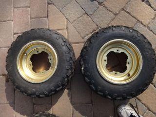 YFZ 450 Raptor 660 700 Banshee Front Wheels Rims Tires 04 08 B