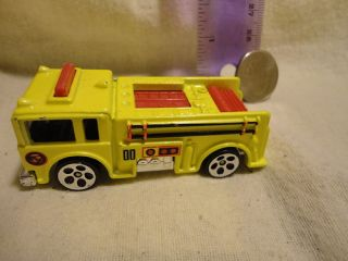 Toy Car Mattel Hot Wheels Vintage Yellow Fire Truck 1976 Nice Diecast