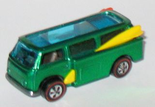 1971 Hot Wheels REDLINE   VW BEACH BOMB   Green   Near Mint w/ Badge