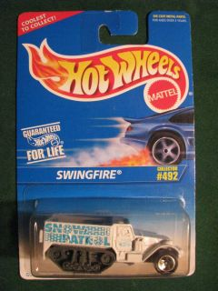Vintage Hot Wheels 96 Collector 492 Swingfire Snow Patrol in Protech