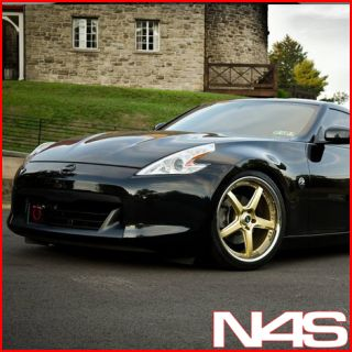 New 19 Nissan 350Z Vertini Drift Gold Staggered Wheels Rims