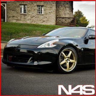 New 19 Nissan 350Z Vertini Drift Gold Staggered Wheels Rims