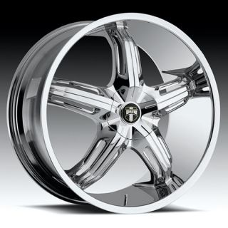 Drone 5 SS Wheel Set 22x9 Chrome Rims for 5 Lug rwd Vehicles