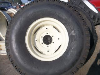 Mower 315 80D16 4 Ply Tubeless Turf Farm Tractor Tires w Rims