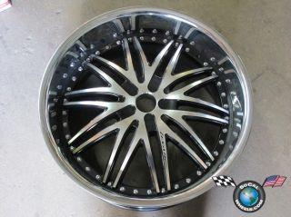One 22 Lexani LX10 22x10 +15mm rim wheel blank machine black face