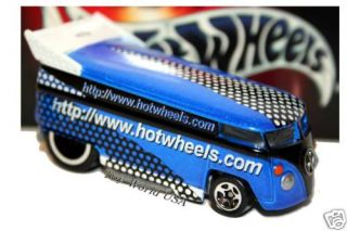 Hot Wheels Dot com Blue Volkswagen Drag Bus