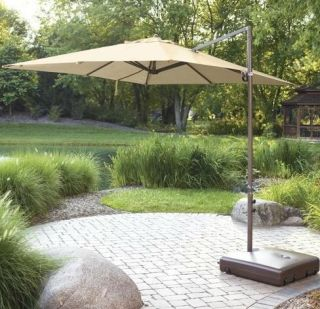 Outdoor Umbrella Base Fills with sand or water handles wheels portable