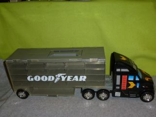GOODYEAR TOY SEMI TRUCK CAR CASE CARRIER HOTWHEELS MATCHBOX BY REDBOX