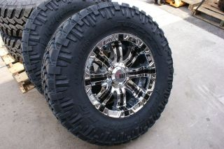 20 inch 94 RBP 35 x 12 50 Nitto Trail Grappler Chrome Rims Wheels 5 6