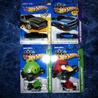 2012 Hot Wheels Knight Rider K I T T 2013 Chevy Camaro Angry Bird And