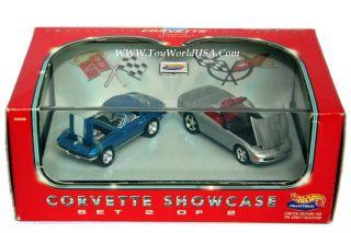 100 Hot Wheels 45th Anniversary Corvette Showcase Set 2 67 98 Chevy