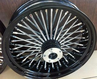 16 FRONT WHEEL BLACK 16 X 3 5 DUAL DISC HARLEY FLHR ROAD KING 94 99
