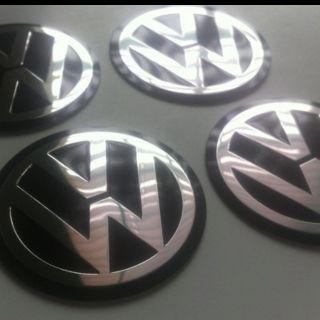 01 02 03 04 VW Volkswagen 55 mm Wheel Center Cap Emblems Decals